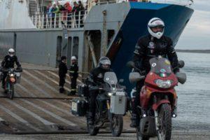 Cruce por vía marítima para llegar desde el continente a Tierra del Fuego.