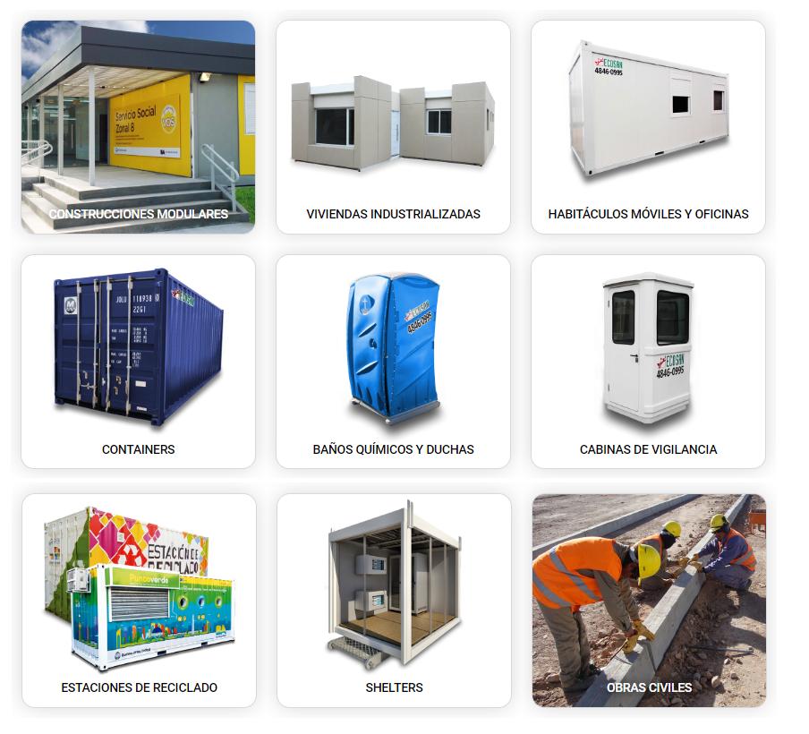 Productos desarrollados por la empresa Ecosan