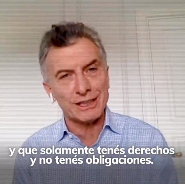 Reapareció Macri y aseguró que el Gobierno intentó