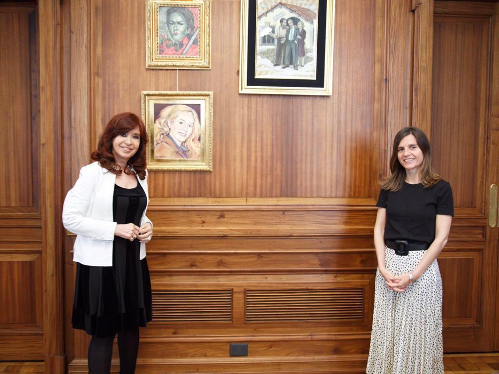 Raverta se reunió con Cristina Kirchner para analizar el proyecto de Ley de Defensa del Fondo de Garantía de Sustentabilidad.