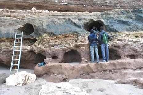 Cueva de milodóntido en el sur de Mar del Plata