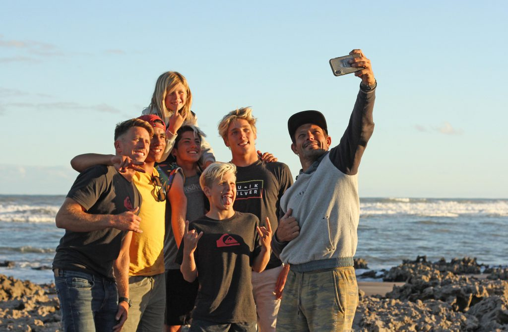 Selfie grupal para retratar una gran aventura.