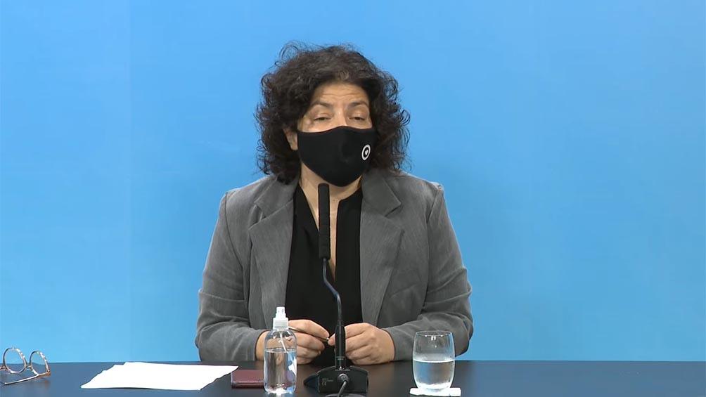 La ministra de Salud de la Nación Carla Vizzotti