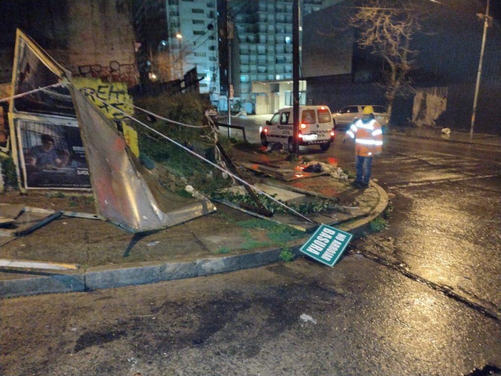 Fuertes vientos dejaron sin luz a 5 barrios de Mar del Plata