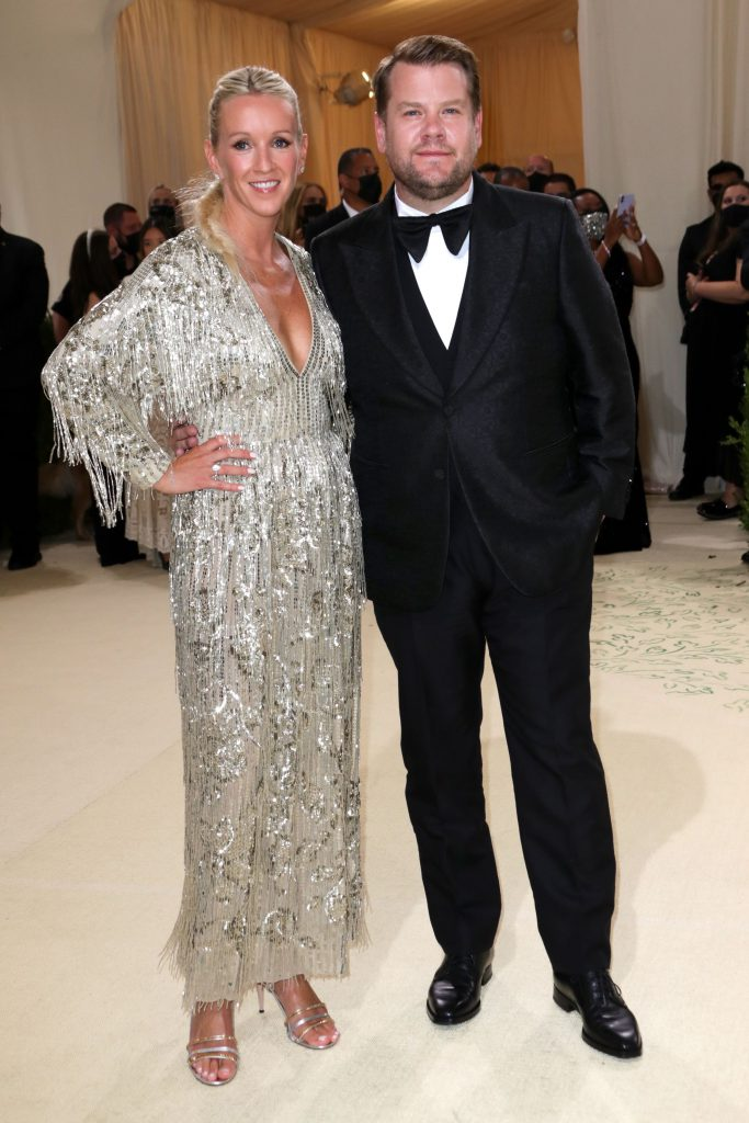 Mandatory Credit: Photo by Matt Baron/Shutterstock (12442602az) James Corden and Julia Carey Costume Institute Benefit celebrating the opening of In America: A Lexicon of Fashion, Arrivals, The Metropolitan Museum of Art, New York, USA - 13 Sep 2021